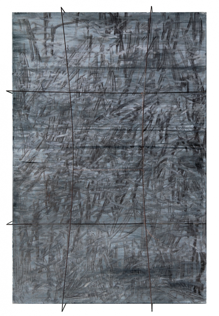 TRACES series, 2018, mixed madia on canvas, 50 x 33 cm