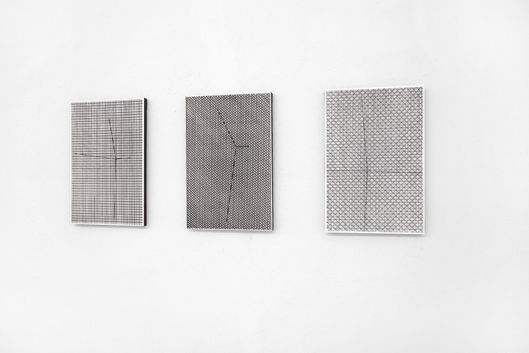 CENTRE series, 2018, mixed media on board, 50 x 33 cm